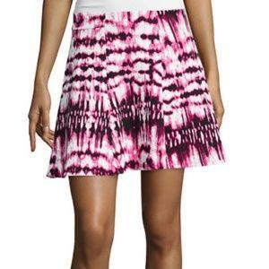 Decree pink tie dye scuba skater skirt